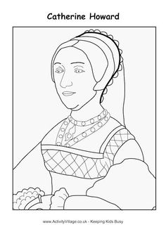 catherine howard colouring page