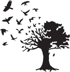 Barbara Gray's Blog. One Day at a Time.: The tree made from birds....