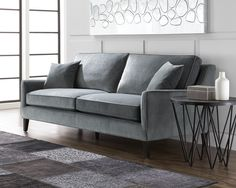 Hanover Sofa in Granite by Sunpan