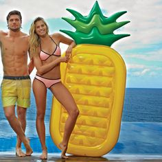 Inflatable Pool Toy Summer Holiday Float Island Inflatable Pineapple Water Float Raft Bed Leisure chair Air Mattress 180*90*20CM