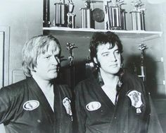 Elvis put on a 90-minute karate demonstration with Ed Parker at the Tennessee Karate Institute. Memphis - July 4, 1974.