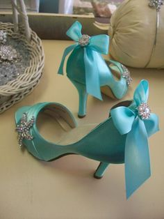 Blue Wedding Shoes Beach Wedding Tiffany Blue Wedding by Parisxox, $184.00