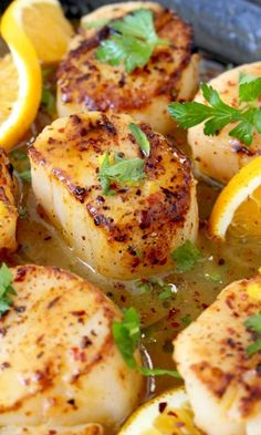 Pan Seared Scallops with Orange Rum Sauce | CiaoFlorentina.com @CiaoFlorentina