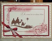 Set of Four Christmas Card - Stampin Up Come to Bethlehem Wise Men