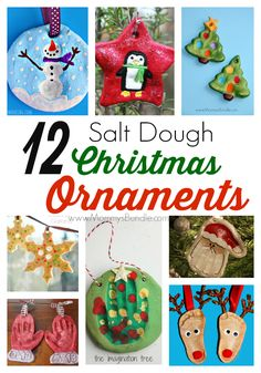Salt Dough Christmas Ornaments: If you love DIY crafts, you've gotta try these 12 adorable Christmas ornaments to make with your kids.