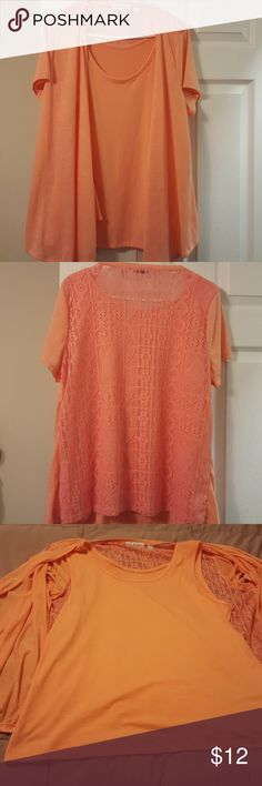 New Kim Rogers Top New, worn once. Lovely Kim Rogers 2 piece tank/cardigan set.  Coral color. Kim Rogers Tops Blouses