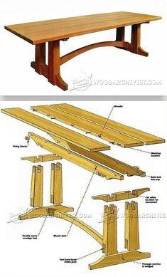 Large Occasional Table Plans - Furniture Plans and Projects   WoodArchivist.com #repurposedfurnituretable #WoodcraftPlans