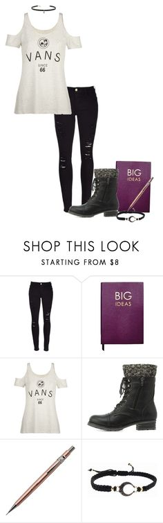 """""""Let's get artistic"""" by arisa-nightingale on Polyvore featuring Frame, Sloane Stationery, Vans, Charlotte Russe, Pentel, mizuki and Carbon & Hyde"""