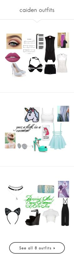 """""""caiden outfits"""" by tay-mew on Polyvore featuring Phase Eight, Casetify, Lipsy, Lime Crime, Kurt Geiger, Miss Selfridge, Hipstapatch, Michael Kors, Glamorous and Giambattista Valli"""