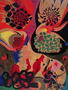 Alfred Pellan, Joie de vivre, 1961, Huile sur panneau, 33 x 25,5 cm