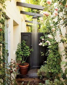 Garden and outdoor shower
