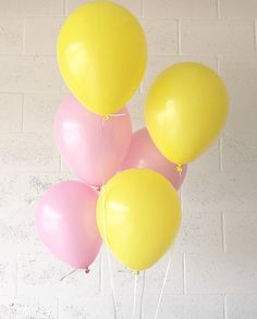 Pink and Yellow Latex Balloons Pink Lemonade by OhhHowCharming
