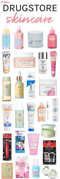 27 New Drugstore Skincare Picks You Won't Want to Miss! anti aging 27 New Drugstore Skincare Picks You Won't Want to Miss! Beauty Care, Beauty Skin, Beauty Tips, Beauty Products, Diy Beauty, Beauty Makeup, Face Products, Homemade Beauty, Makeup Tips