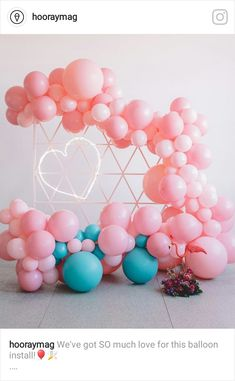 Taking styling cues from sunny Palm Springs in California, this styled shoot is jam-packed with inspiration for the fun-loving bride. Ballon Arch, Balloon Backdrop, Balloon Decorations Party, Balloon Garland, Party Ballons, Crazy In Love, Palm Springs, Balloon Ceiling, Balloon Wall