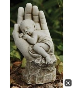 In The Palm of Gods Hand Memorial Miscarriage Baby Statue Garden or Gr – Beattitudes Religious Gifts I want one of these little statues in my front garden Garden Statues, Garden Sculpture, Outdoor Statues, Sculpture Clay, Hand Statue, Sculptures Céramiques, Sculpture Ideas, Cemetery Art, Baby Memories