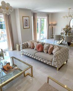Beige Living Rooms, Living Room Decor Cozy, Elegant Living Room, Home Living Room, Living Room Wall Units, Living Room Tv Unit Designs, Home Room Design, Home Interior Design, Decoration Inspiration