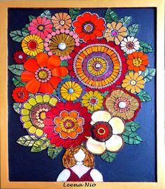 The Wedding Hat mosaic ~ Leena Nio