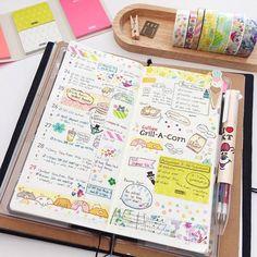 Hobonichi weeks in Midori traveller's notebook | Instagram media by somethingmint - Week 13. Happy Easter everyone