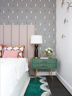 34 Trendy Bedroom Black Furniture Dream Homes Bedroom Green, Home Bedroom, Bedroom Decor, Bedroom Black, Bedroom Ideas, Design Bedroom, Bedrooms, Wall Decor, Bedroom Furniture