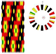 xcd-kumihimo-05 by --==\XcUiDi/==--, via Flickr Bracelet Fil, Bracelet Crafts, Circle Loom, String Crafts, Bead Crochet, Crochet Rope, Loom Weaving, Loom Patterns, Diy Jewelry Making