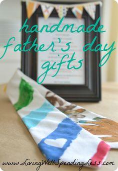 Easy Father's Day gifts for kids to make via www.LivingWellSpendingLess.com