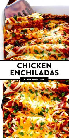 Sauce Enchilada, Enchilada Lasagne, Best Chicken Enchilada Recipe, Homemade Enchilada Sauce, Enchilada Recipes, Chicken Recipes, Chicken Freezer, Easy Chicken Enchiladas, Mexican Enchiladas