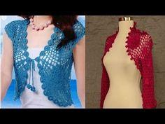 Bolero o torera mariposa tejido a crochet para mujeres en 5 tallas: XS·S·M·L·XL - YouTube