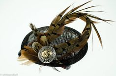 pheasent feather fascinator by holly young headwear   notonthehighstreet.com