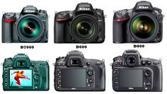 A comparison of the Nikon and DSLR cameras. Both visual and spec comparison showing the similarities and differences. Pixel Size, Nikon D7000, Binoculars, Tech, Photography, Tecnologia, Photograph, Fotografie, Technology