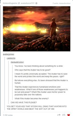 ...Wow, this would be strange. And I concur the last comment. Kyoshi will once again bathe in the blood of her enemies