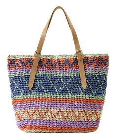Look what I found on #zulily! Bright Blue & Orange Stripe Marni Tote by Shiraleah #zulilyfinds
