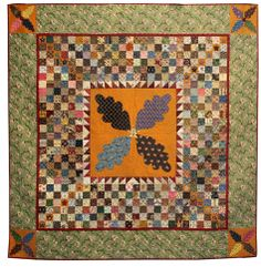 """Wendy Reed of Bath, ME   -  """"Thanks, Judie""""....  I THINK this medallion is a very old applique block called 'Tobacco Leaf.'  Does anyone know?  I have been trying to find this pattern forever...mj"""