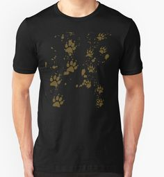 Wolf Tracks T-shirts and Hoodies #wolf #wolves #wolfpack #animals #paws