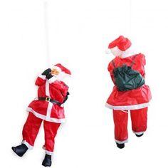 [lux.pro] Babbo Natale su Corda 85 cm Decorazione Natalizia Natale Figura Nicolò Scala  16,50 € #babbonatale #natale #decorazione  #casa #feste