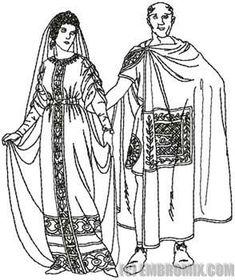 Byzantine Clothing Sketch  #Byzantine #garb #SCA