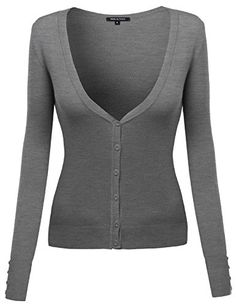 Made by Emma Women's Deep V-neck Cardigan with Various Colors
