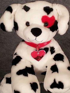 Valentine Be Mine Dalmation Puppy Dog Plush Build A Bear Retired Stuffed BABW