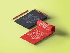 Notepads with Pencil Mockup | MockupWorld