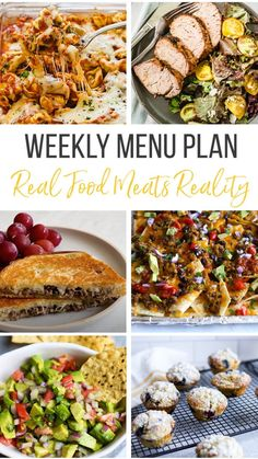 Real Food Recipes, Healthy Recipes, Yummy Food, Healthy Family Meals, Family Recipes, Lunch Meal Prep, Homemade Soup, Weekly Menu, Vegetable Sides