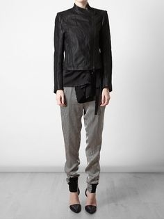 Ann Demeulemeester - distressed leather Jacket 2