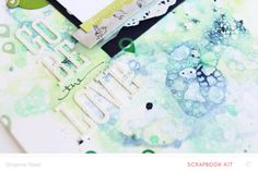 Pretty watercolor layouts and cards for inspiration from Studio Calico!  More photos on the site!