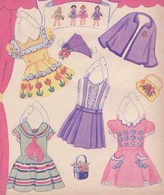 PLAYMATES paper dolls 1955 - Kathy - Picasa Web Albums: