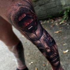 Killer collab by @sam_barber_tattoo & @jakconnollyart #inkjunkeyz