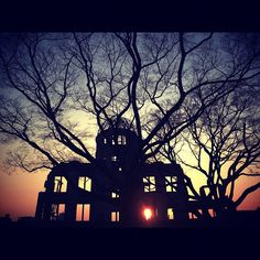 Atomic Bomb Dome,Hirosima  広島を離れる直前、原爆ドームは夕陽に赤く照らされていた atomic bomb dame - @maaphotojp   Webstagram