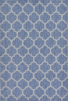 Outdoor Rugs - A2Z Rug Plan  Trellis Design Indoor  Outdoor Blue 6 x 9Feet Area Rug  Garden Pool Area Camping Picnic Carpet * You can get more details by clicking on the image. (This is an Amazon affiliate link)