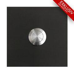 MOCAVI RING 110 Edelstahl-Design-Klingel anthrazit-grau matt RAL 7016 quadratisch (7,5 x 7,5 x 2) Technik Klingeln