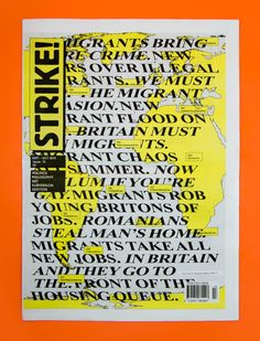 Magazine London Barnbrook designed the cover of the September–October 2015 issue of Strike! The aesthetic is a continuation. David Bowie Album Covers, Jonathan Barnbrook, List Of Artists, Artist List, 20th Century Music, London Logo, Commemorative Stamps, Album Cover Design, Exhibition Poster