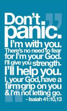 Don't panic...