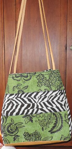 Jungle Meets Garden Satchel Tote Beach Bag Made in by abitofbeach, $64.00