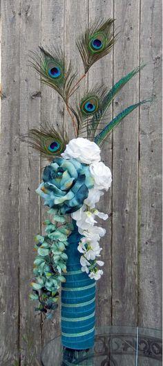 Peacock Floral Arrangements Peacock Feathers by RachelsHeart, $39.00